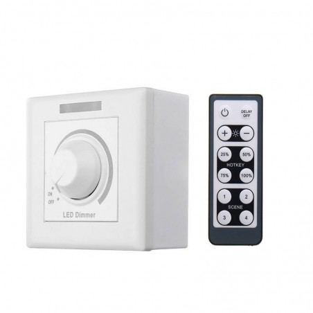 220V Wall Dimmer Switch LED Dimmer With 12 Keys IR Remote Control For Dimmable Light Lamp Bulb