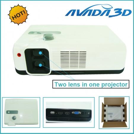 1080P RealD Polarized 3D Projector Dual Lens, Full HD 3D Cinema Projector