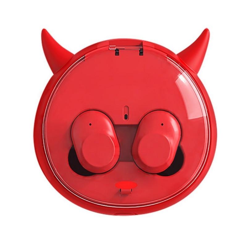 Tws I10 Mini Cartoon Pair Earphones Wireless Bluetooth Headset Plug In Earplug Running Dual Ear Wireless Stereo With Chargin