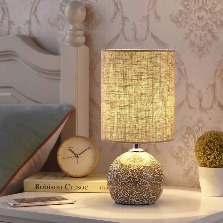 "Bedside Table Lamp - 12.5"" H for Bedroom"
