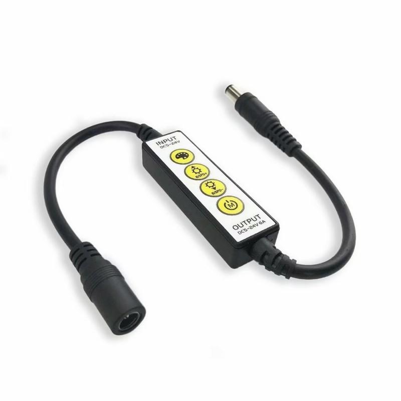 Volt 12V PWM  Inline Dimmer For LED 3528 Single Color Strip Light