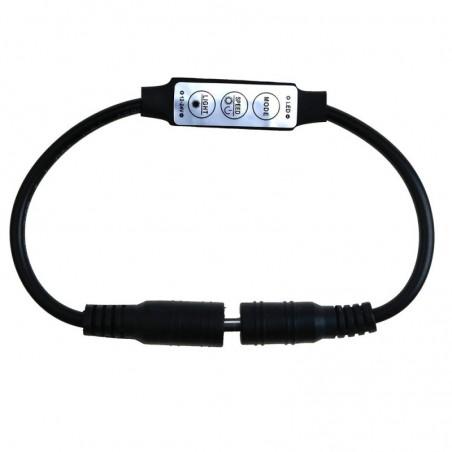 DC 12V Mini 3Keys 24V Dimmer Controller Switch Dual DC Plug For Single Color 5050 3528 5630 5730 Led