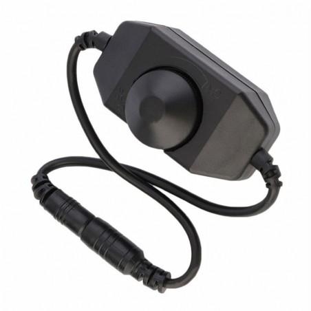 Premium 12V DC 0-100 PWM Manual Knob LED Dimmer Switch for LED Strip Light Black Stylish Lighting A