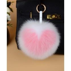 Fox Fur ball Bag Keychain