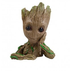 Guardians of The Galaxy Flowerpot Baby Groot Action Figures Cute Model Toy Pen Pot