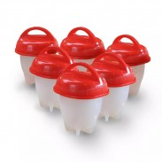 Egg Cooker ,Silicone Eggs Hard & Soft Maker, BPA Free 6pcs