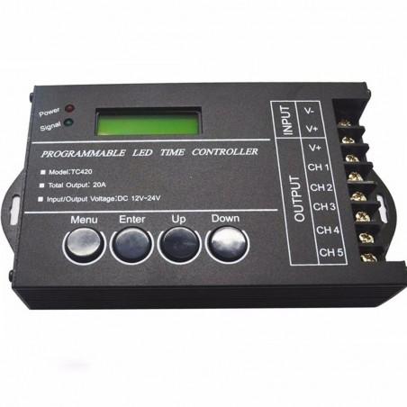 20A 5 Channel programmable LED Time Controller
