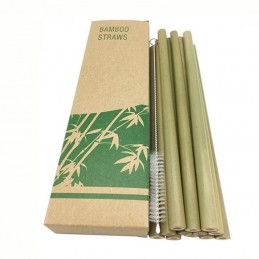 12pcs/set Bamboo Drinking...