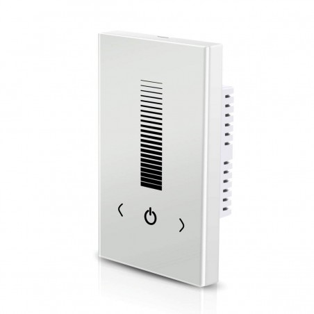Wall-mounted Touch Panel LED Dimmer Switch Brightness Controller DC 12-24V White