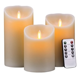 Flameless Candles Pack of 3...