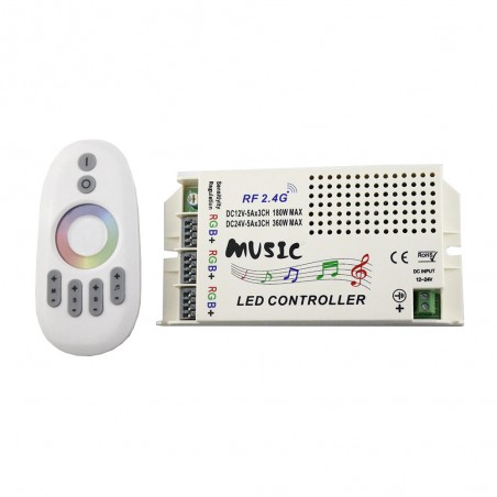 DC12V 24V 2.4G RGB Controller Music RF Led Controller with Wireless Remote