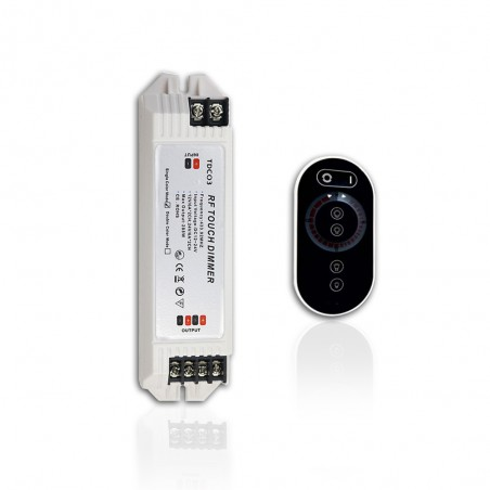 DC12V 24V LED Dimmer MAX 288W 6A 2 Channels RF Touch Dimmer