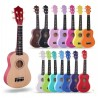 Wood Ukulele Rainbow Starter Uke Hawaii kids Guitar 21 Inch with Gig Bag for kids Students and Beginners